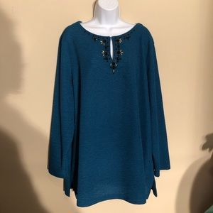 Dana Buchman Blue Long Sleeve Shirt